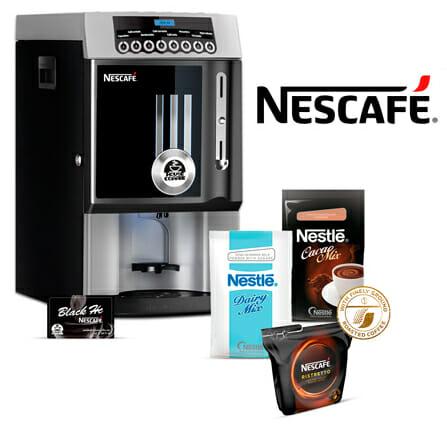 Imagen cafetera Nescafé Black. Más de 12 consumiciones diarias. Maquinas de cafe para empresas.