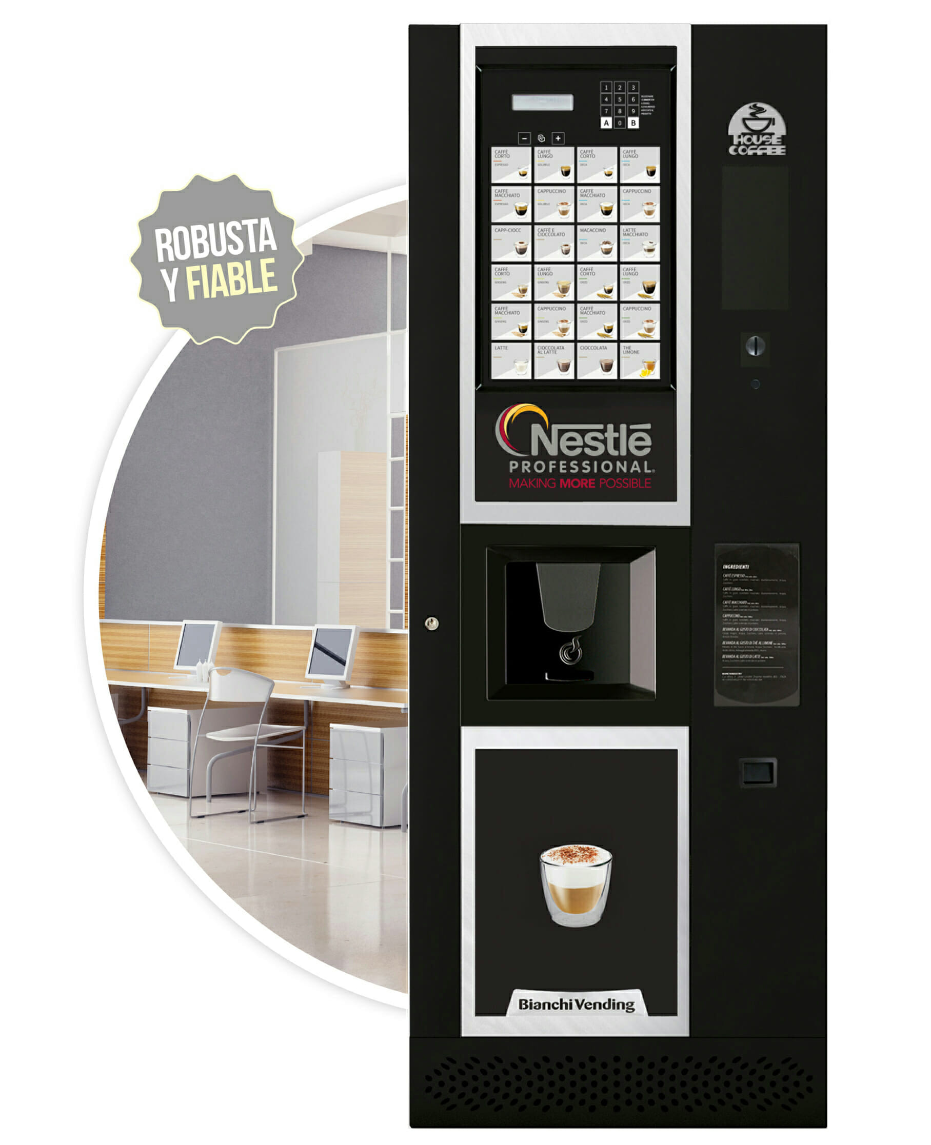 Imagen de la cafetera Verso. Maquinas de cafe para empresas.